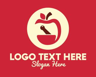 Apothecary - Red Apple Apothecary logo design