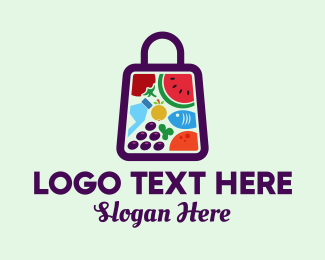 Farmers Market - Food Shopping Market logo design