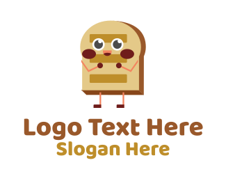 Happy Bread Mascot Logo