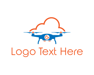 Aviation - Blue Drone Cloud logo design