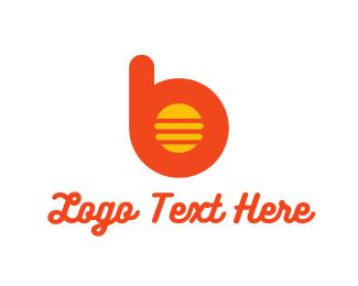 Bun - Burger B logo design