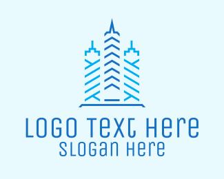 Condominium - Blue Tower Condominium logo design