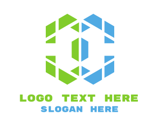 Negative Space - Abstract Negative Space logo design