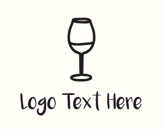France - Wine Glass logo design