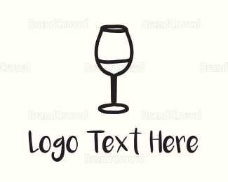 Cheers - Wine Glass logo design
