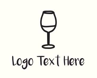 Grape - Wine Glass logo design