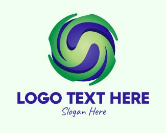 Hurricane - Global Typhoon Weather logo design