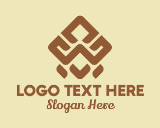 Cave Painting - Brown Ethnic Pattern logo design