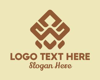 Pattern - Brown Tribal Pattern logo design