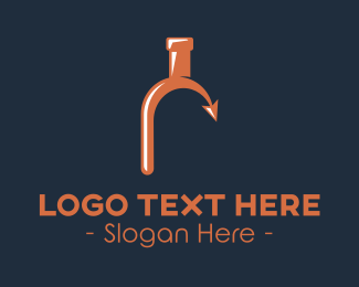 Gin - Drinking Bottle Arrow logo design