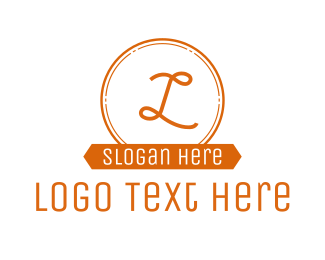 Circular - Orange Circle Banner Lettermark logo design