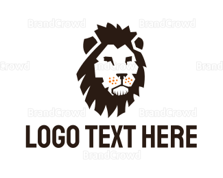Wildlife - Black Lion Head logo design