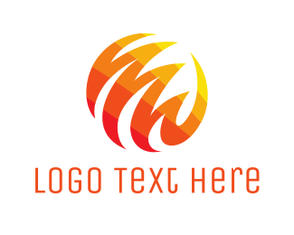 Heat - Abstract Fireball Globe logo design