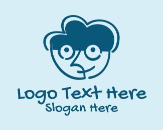 Kiddo - Brain Boy Doodle  logo design