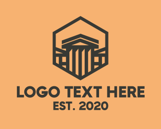 Black Hexagon - Greek House logo design