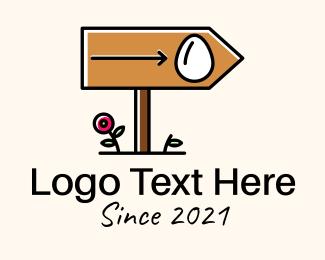 Wooden - Wooden Direction Signage logo design