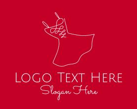 Fashion - Red Fashion Dress logo design