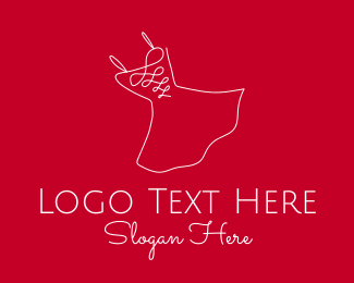 Fashion - Red Fashion Dress logo design