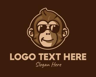 Chimpanzee - Cool Monkey Mascot  logo design
