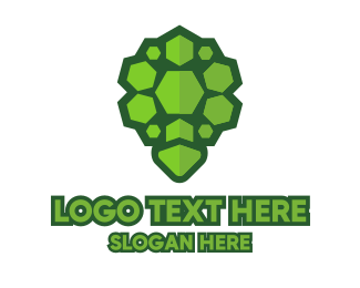 Tortoise - Rock Turtle Shell logo design