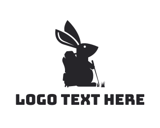 Backpacking - Hiking Rabbit logo design