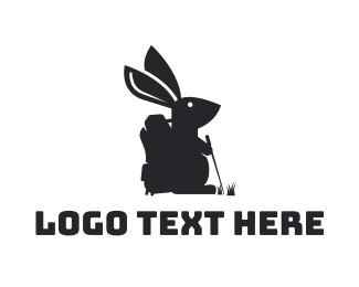 Backpack - Hiking Rabbit logo design