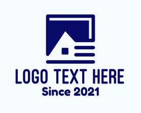 Real Estate - Blue House Book logo design