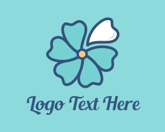 Dental Blue Blossom logo design