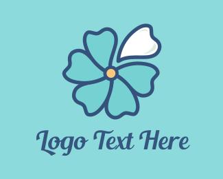 Beach - Blue Blossom logo design