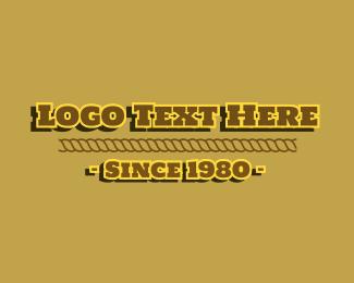 Text - Vintage Cowboy Text logo design