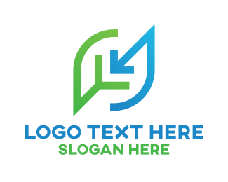 Clean Energy - Eco Leaf Business Company logo design