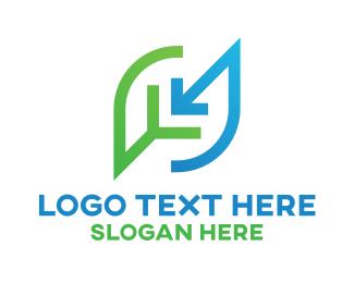 Eco Leaf Business Company Logo