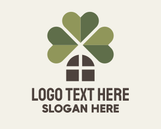 Shamrock - Window Clover logo design