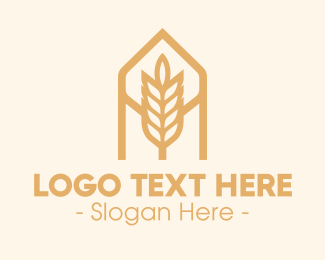 Oat - Wheat Grain Bakery logo design
