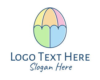 Organic Egg - Easter Egg Umbrella  logo design