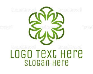 Irish - Green Flower logo design