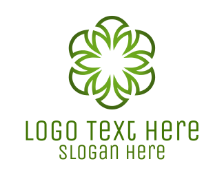 Ireland - Green Flower logo design