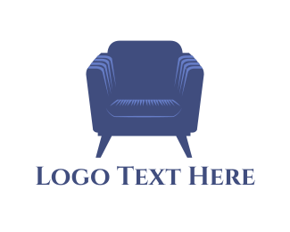 Seat - Purple Armchair logo design