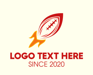Fire - American Football Rocket logo design