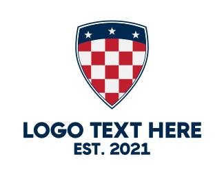 """Checkered Flag Shield"" by royallogo"