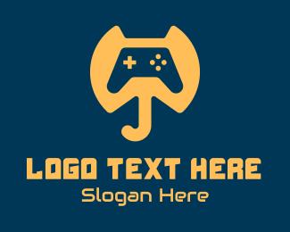 Video Game Console - Elephant Game Controller logo design