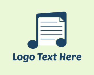 Note - Music Notes  logo design