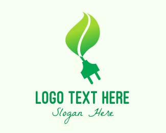 Biotechnology - Green Eco Plug logo design