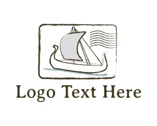 Boat - Postal Boat logo design