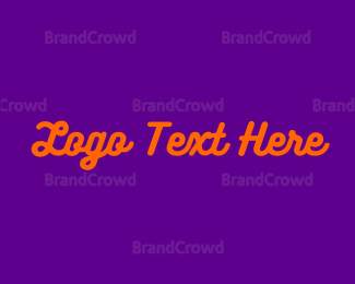 Orange And Purple - Purple & Orange Wordmark logo design