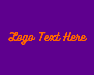 Stag Party - Purple & Orange Wordmark logo design