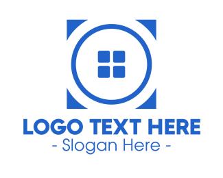 House - Blue Real Estate Property logo design