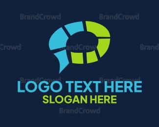 Pair - Brain Chat logo design