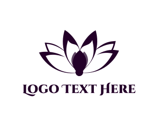 Buddhism - Lotus Blossom logo design