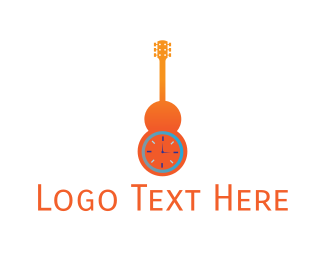 Folk - Guitar Time logo design